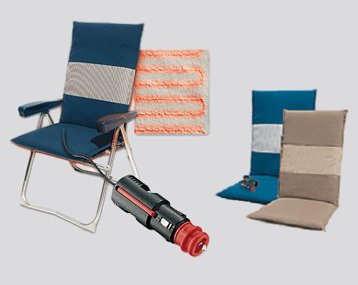 Coussin chauffant pour chaise longue de camping(12V)